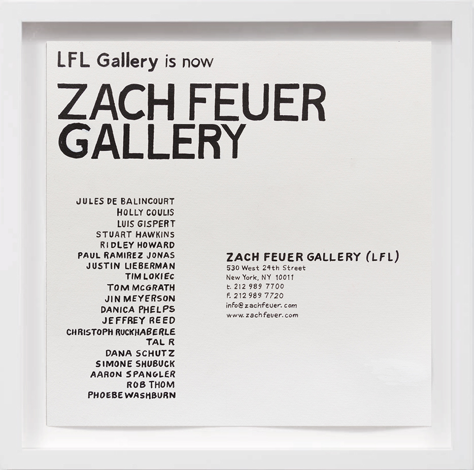 Zach Feuer Gallery (2004)   2017,  SOLD