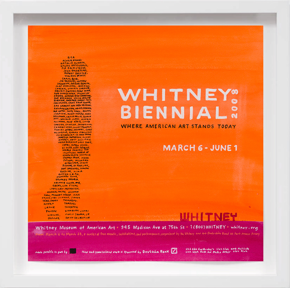 Whitney Biennial (2008)   2017,  SOLD
