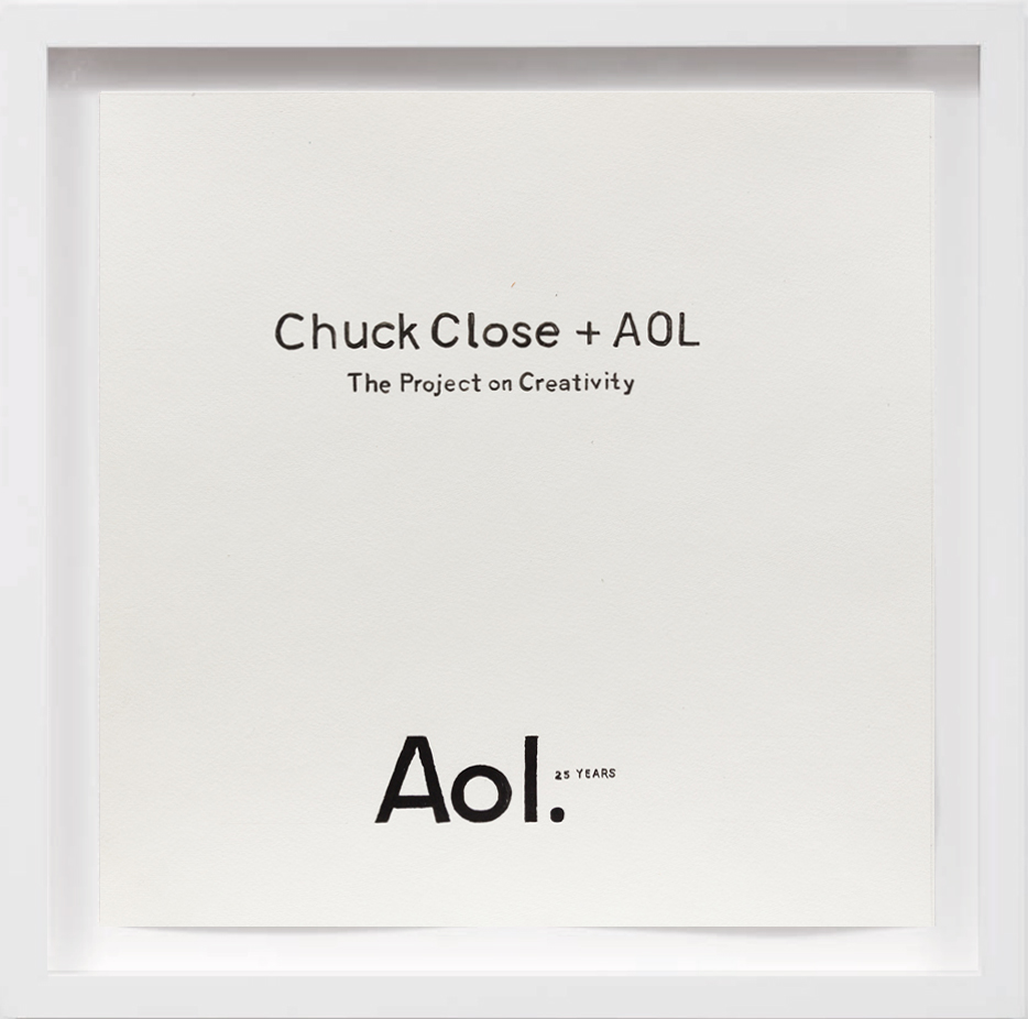 Chuck Close + AOL (2010)   2018, Available