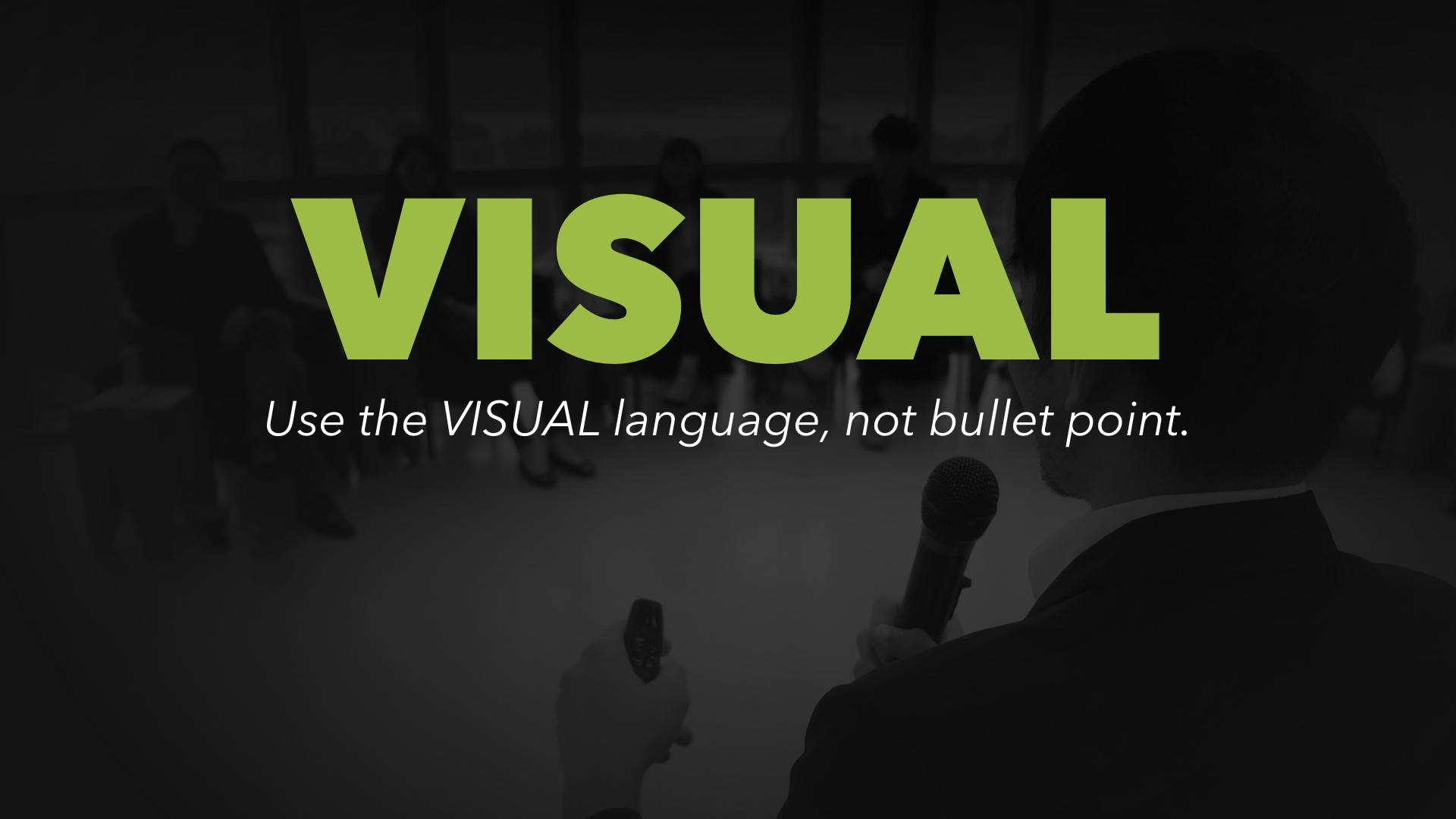 有力簡報第五招 POWER.5:告別點句,善用視覺語言1