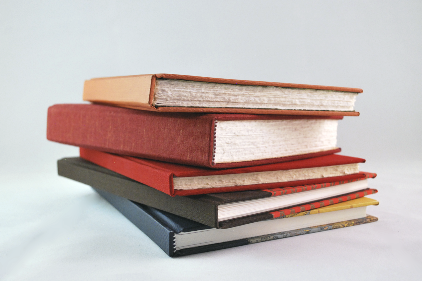 Square-back books - great for journals, sketchbooks, and notebooks.