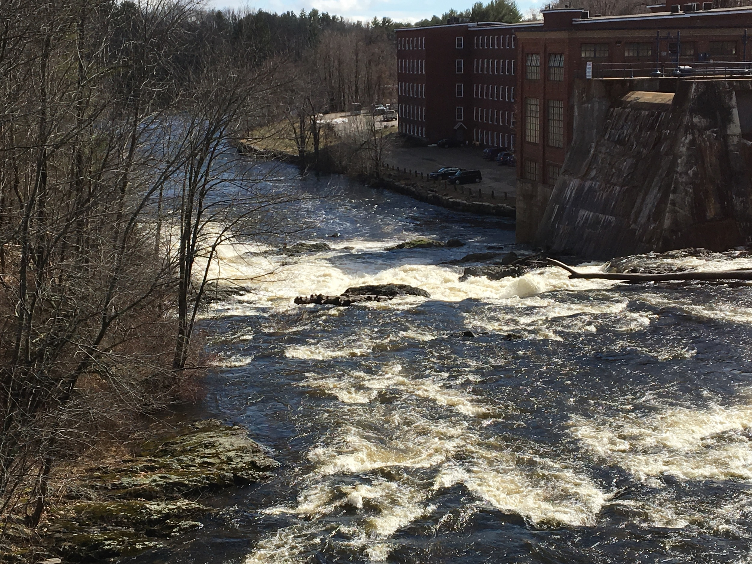 Salmon Falls from Above at Maine/NH boarder