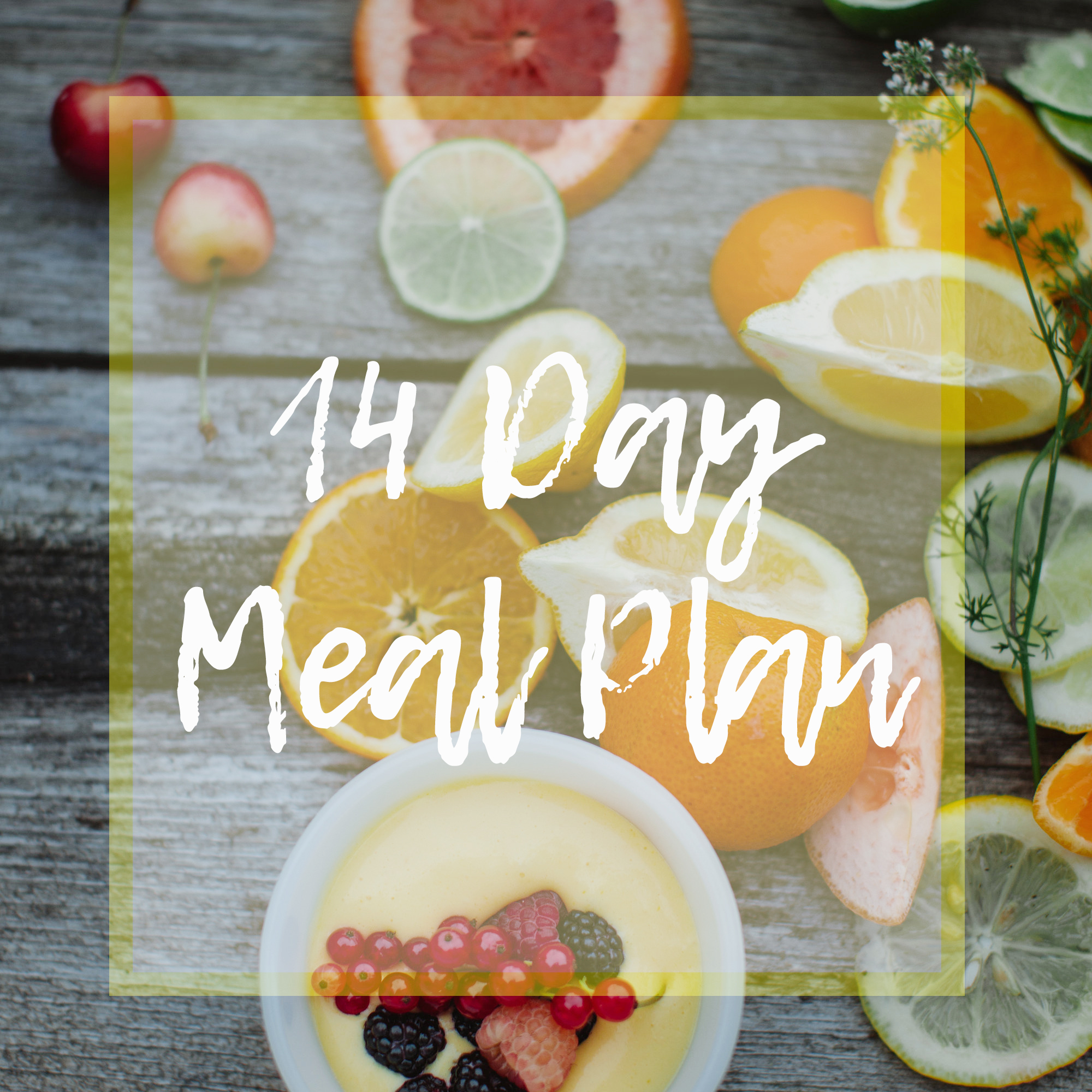 14 days of plant powered whole food nutrition! - Click the image to download.