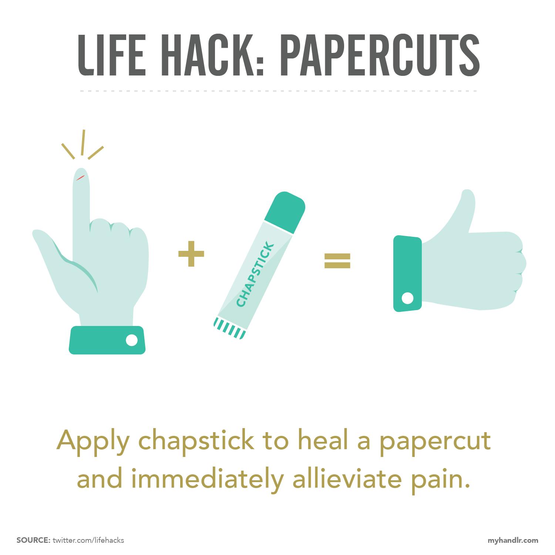 Handlr Life Hacks: Papercuts