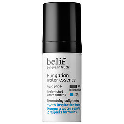 BELIF Hungarian Water Essence deluxe sample  0.3 oz $4.98  Code: IMMORTAL Released: 5/18/16    Full Size 2.53 oz $42