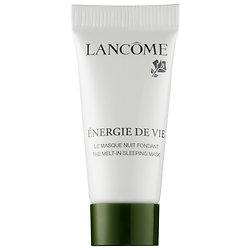 Lancôme Energie de Vie the Melt-In Sleeping Mask deluxe sample  0.16 oz $4  Code: LETSMASK Released: 5/18/16   Full Size 2.6 oz $65