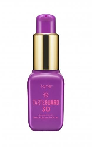 tarte Tarteguard 30 Sunscreen Lotion Broad Spectrum SPF 30 deluxe sample  0.23 oz $4.33 (or $6.90)  Code: HOTBI (choose 2) or HOTVIB (choose 3) Released: 5/26/16   Full Size 1.7 oz $32