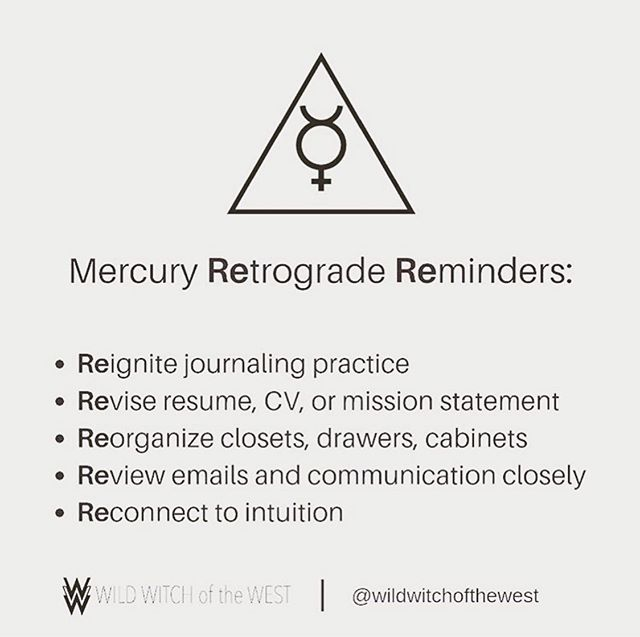 Really digging this re-minder and re-framing of mercury retrograde by @wildwitchofthewest 💜