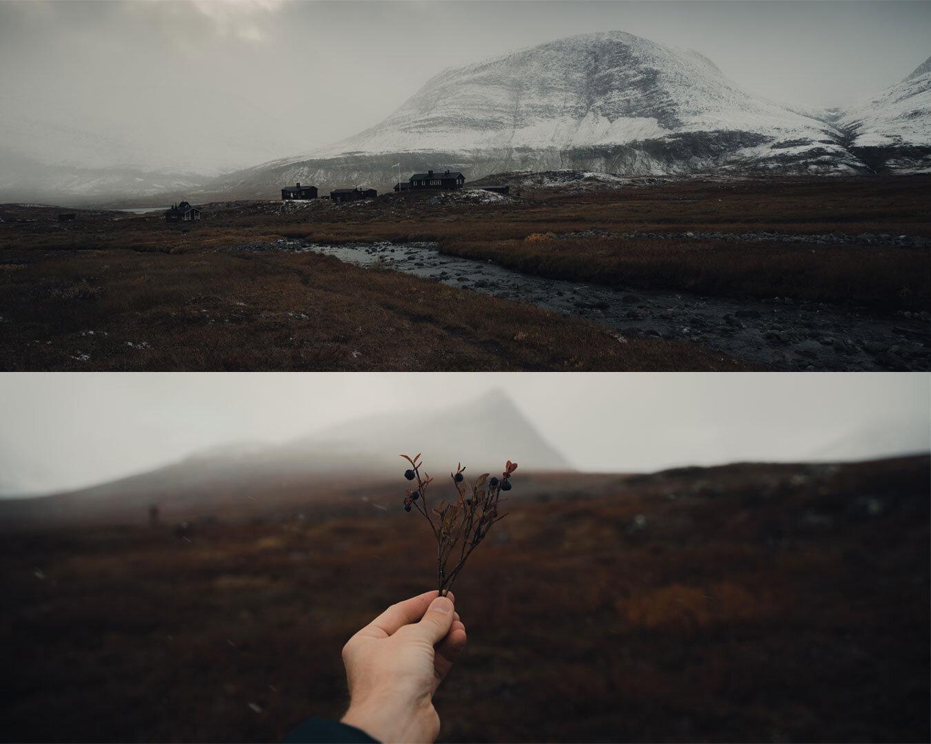 Reaching the Sälka huts.