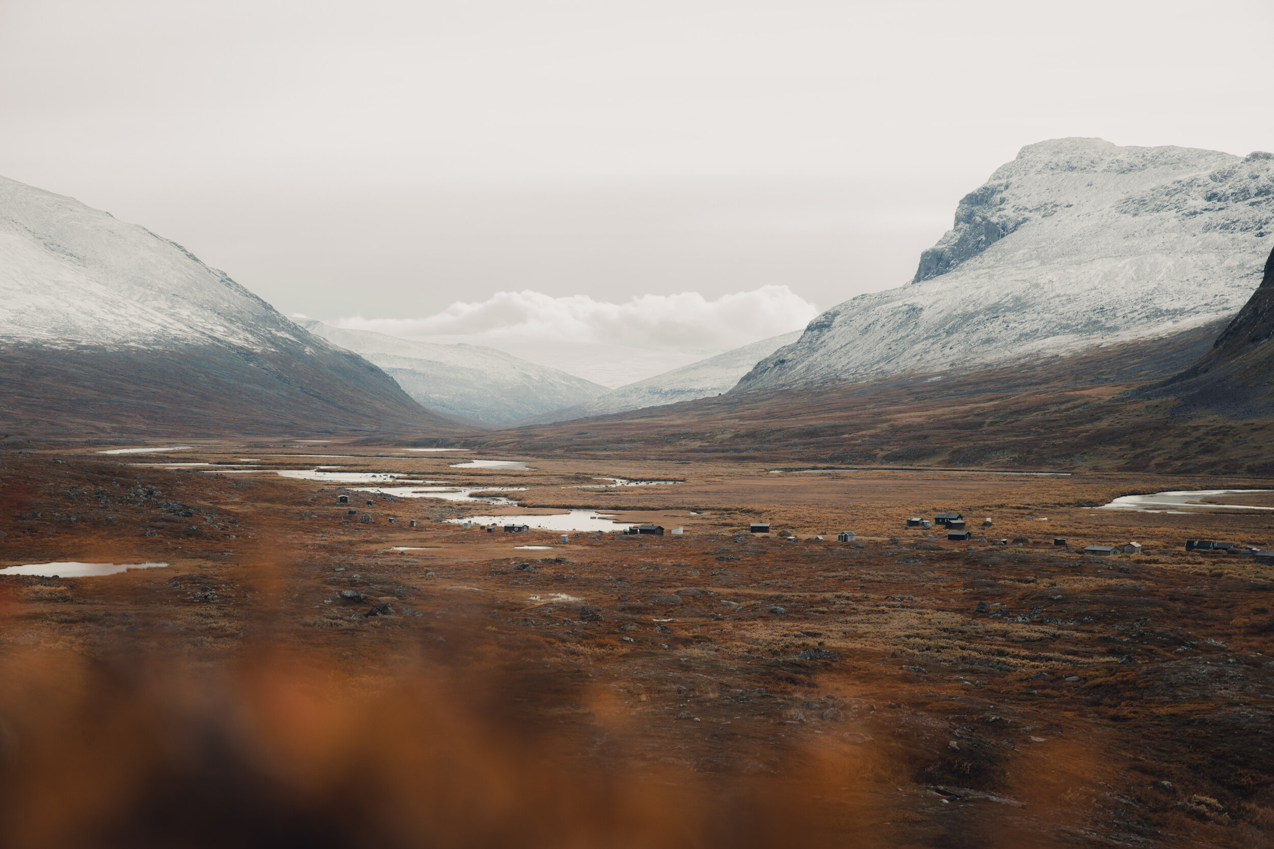 The Sami summer settlement was all quiet since we were quite far into fall.
