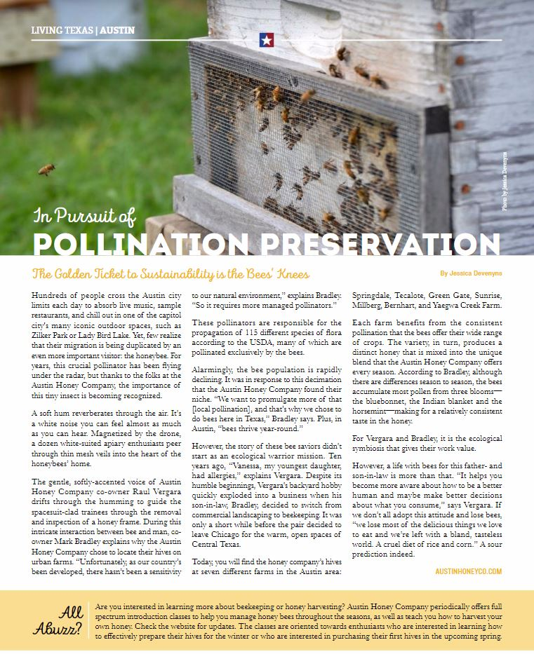 AustinHoneyCo in Pursuit of Ppollination Preservation - Texas Life Style Magazine