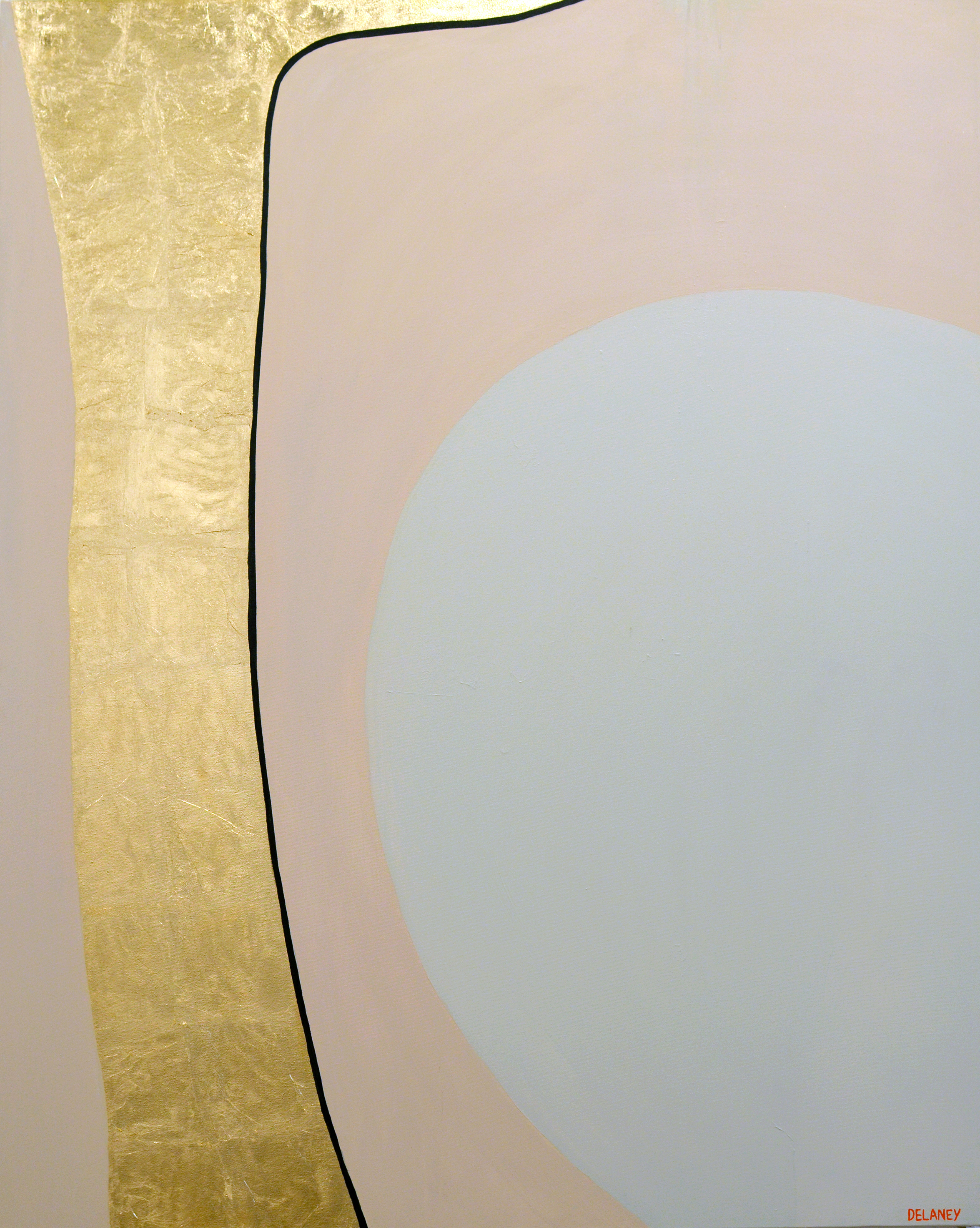 You Are Gold  Gold leaf and acrylic on canvas (161x121cm)