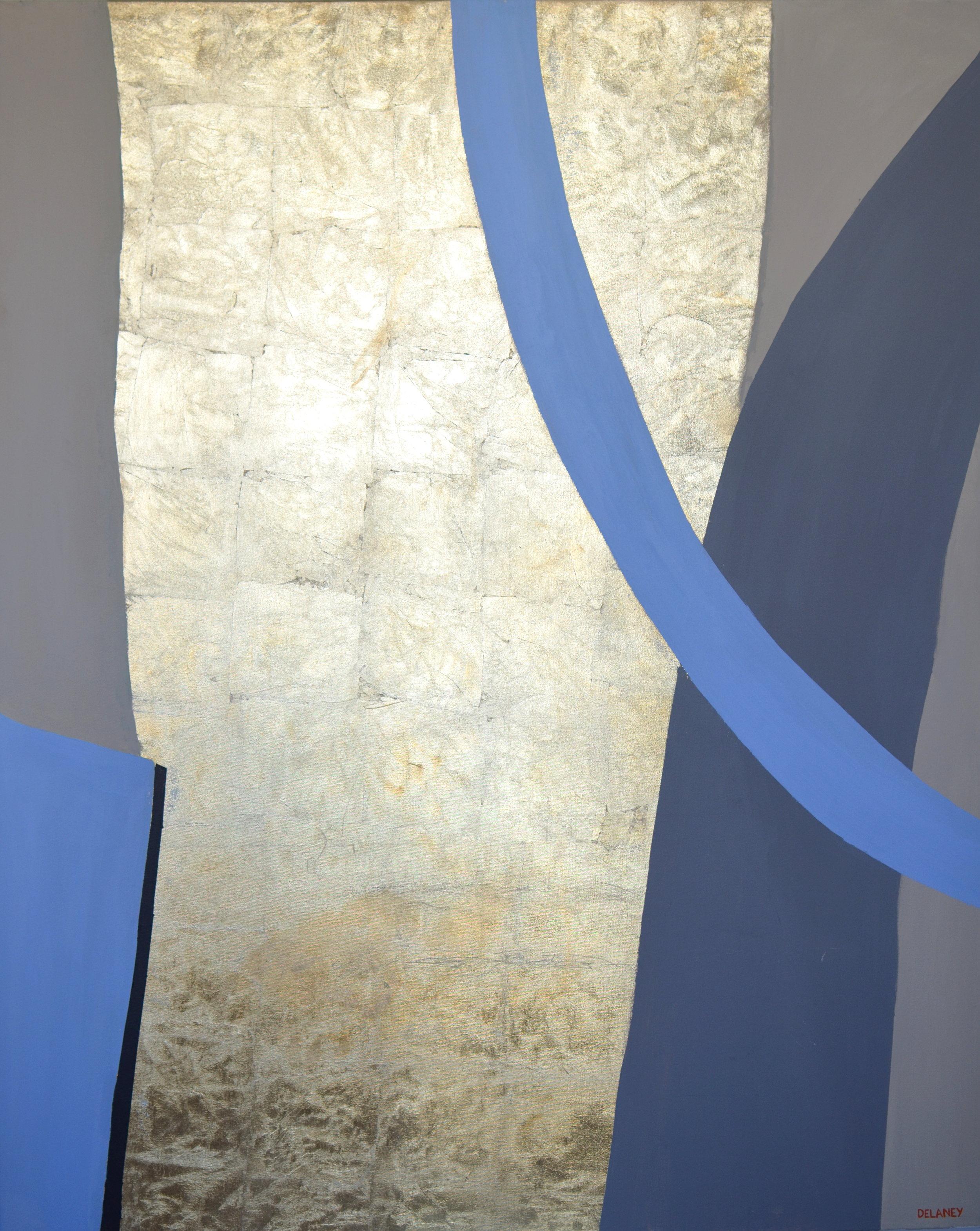 Club Triptych #1  Gold leaf and acrylic on canvas (161x121cm)