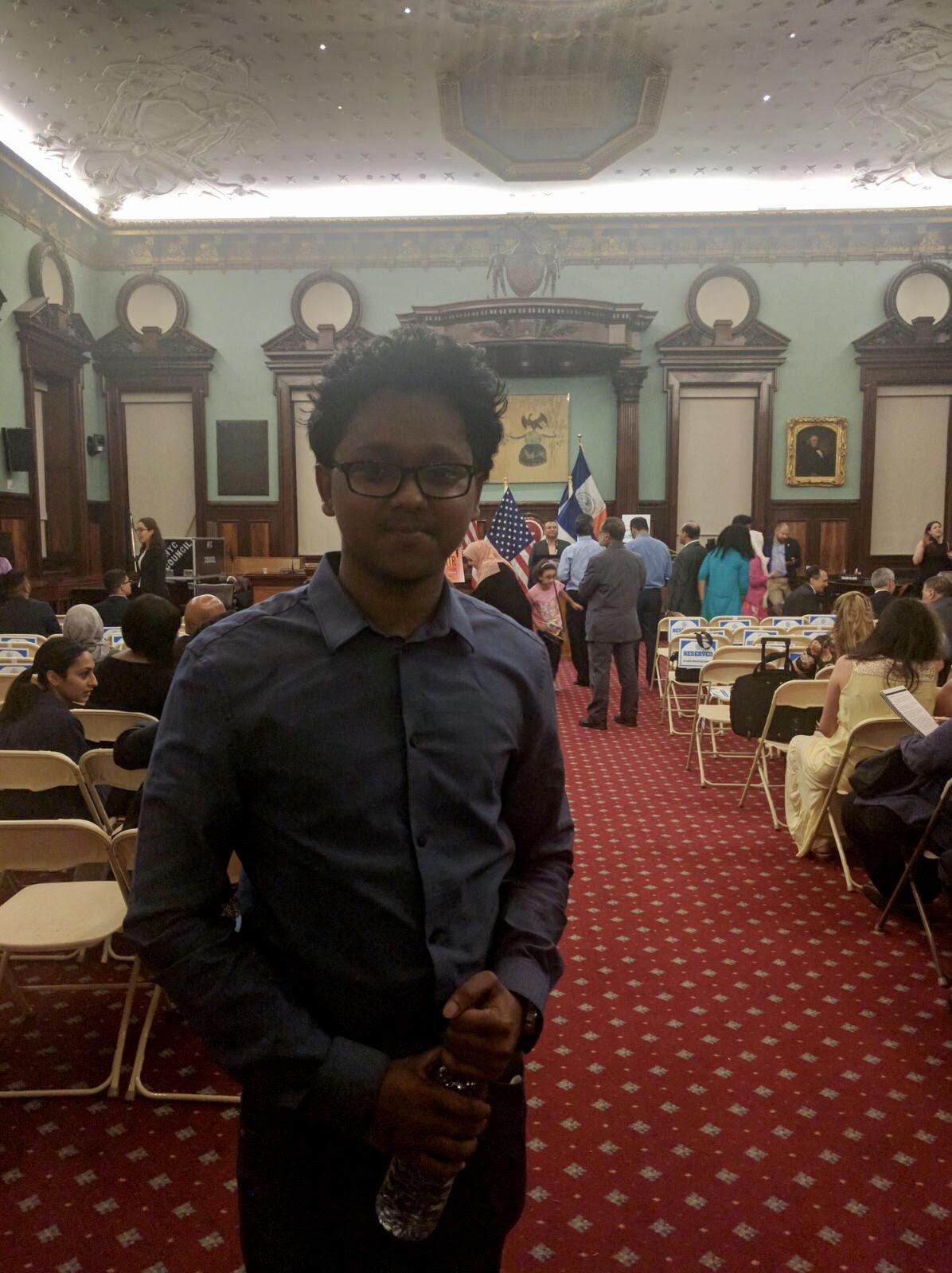 Irshaad at the Eid-Al-Fitr Celebration in City Hall
