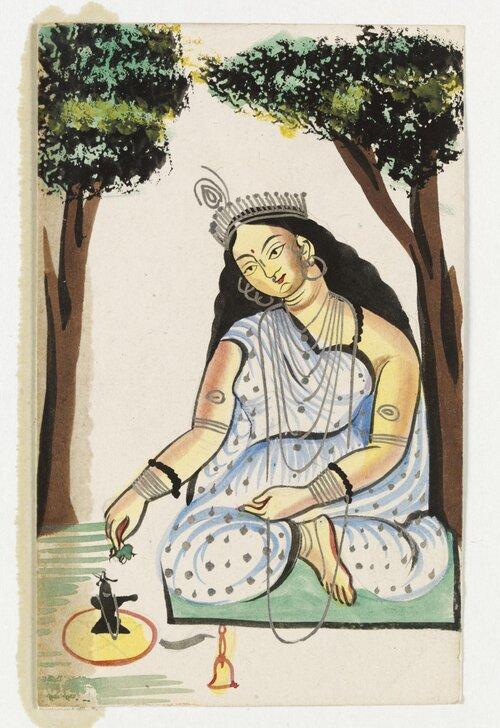 """""""Shanti Devi,"""" Victoria & Albert Museum."""