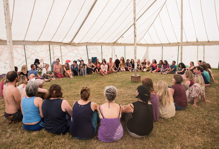 Open Floor Movement Practice Class, held at Earthsong 2015, Cahir, Co. Tipperary