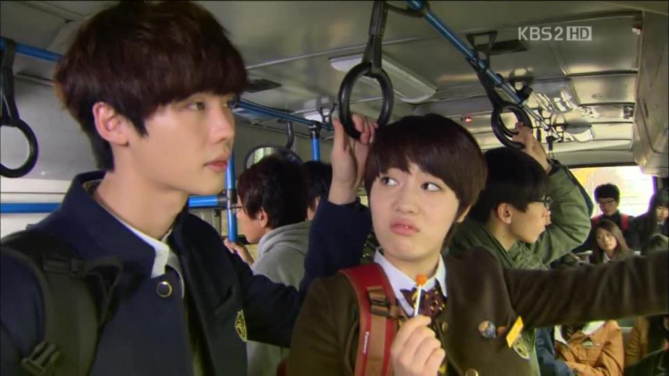 Go Nam-soon ( Lee Jong-suk ) and Lee Gang-joo ( Ryu Hyo-young ) // Source: KBS2