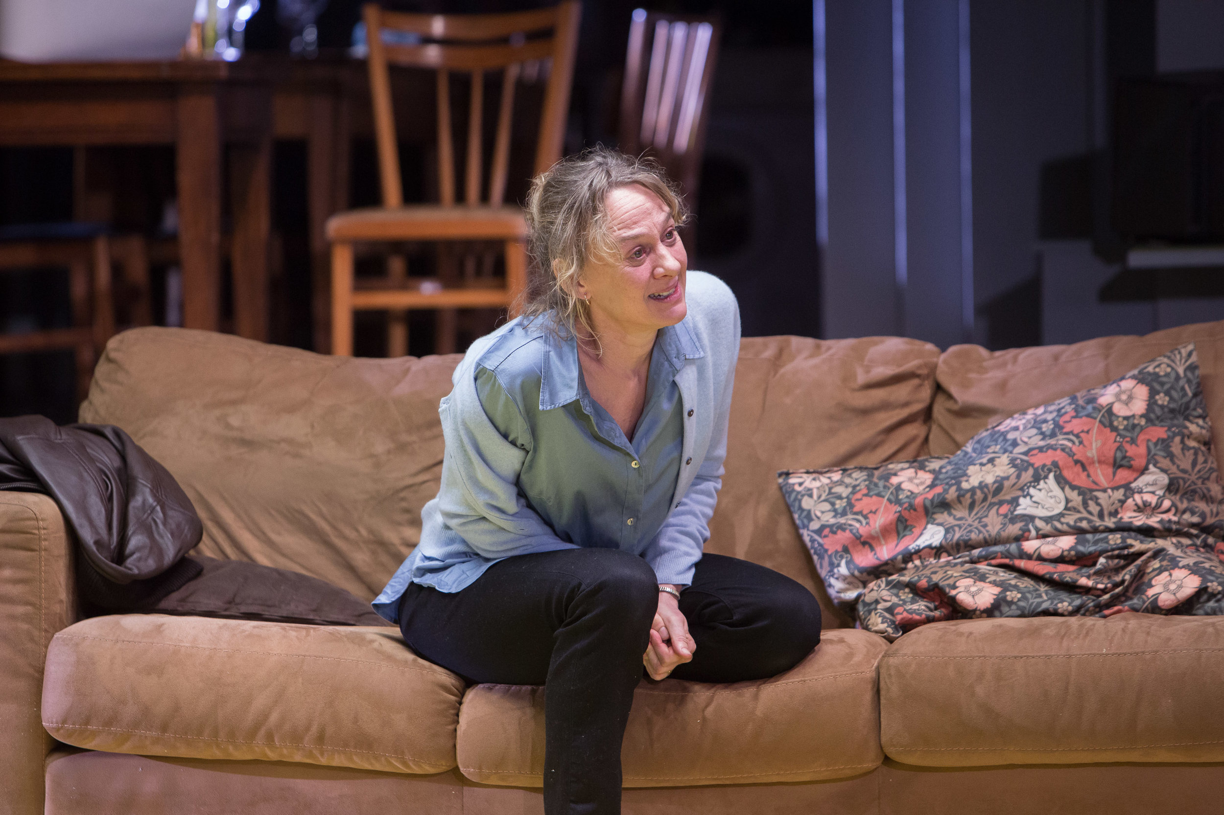 Helen Alving ( Niamh Cusack ) in   Ghosts   by  Henrik Ibsen , in a new version of  David Watson , directed by  Polly Findlay  ||  Source :  HOME Manchester  (18 Nov - 3 Dec 2016). Photo  Jonathan Keenan