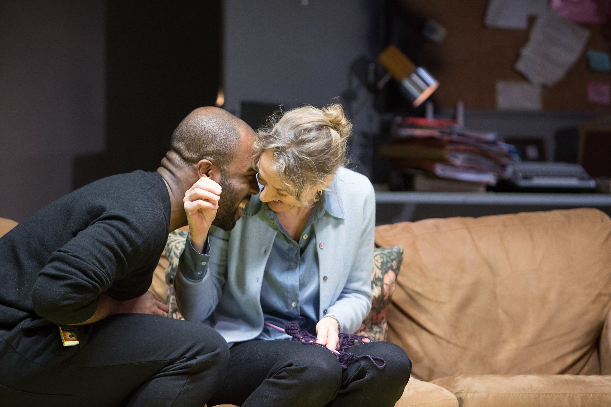 Osvald Alving ( Ken Nwosu ) and Helen Alving ( Niamh Cusack ) in   Ghosts   by  Henrik Ibsen , in a new version of  David Watson , directed by  Polly Findlay  ||  Source :  HOME Manchester  (18 Nov - 3 Dec 2016). Photo  Jonathan Keenan