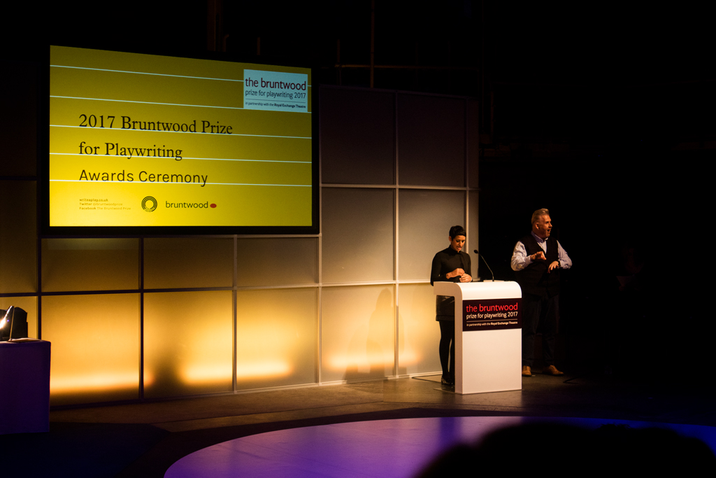Naga Munchetty  hosting the  2017 Bruntwood Prize Award Ceremony  at  The Royal Exchange Theatre , Manchester  -  still cannot believe I saw her live haha  ||  Photo by:   Karina So