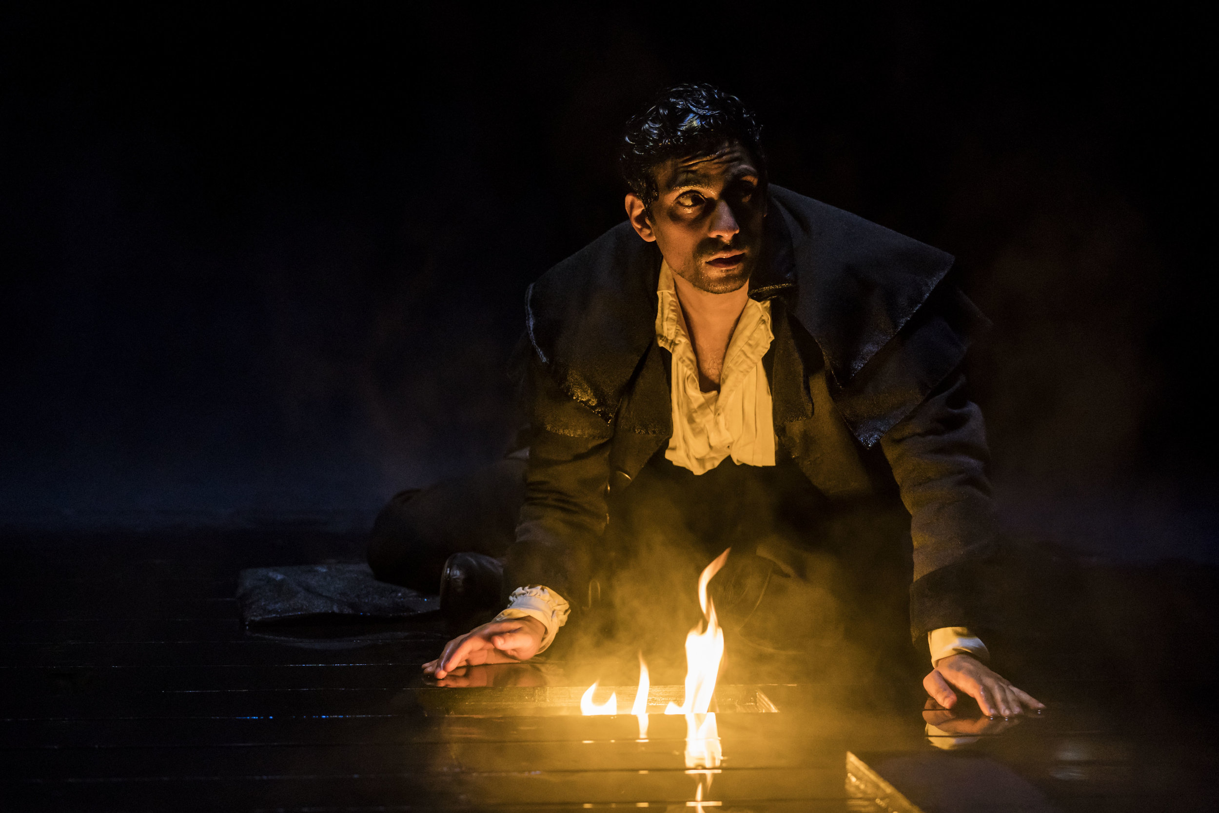 Victor Frankenstein ( Shane Zaza ) in   FRANKENSTEIN  as adapted by  April De Angelis  and performed at the   Royal Exchange Theatre   (9 Mar - 14 Apr 18) || Photo by  Johan Persson  - courtesy of  the Royal Exchange Theatre