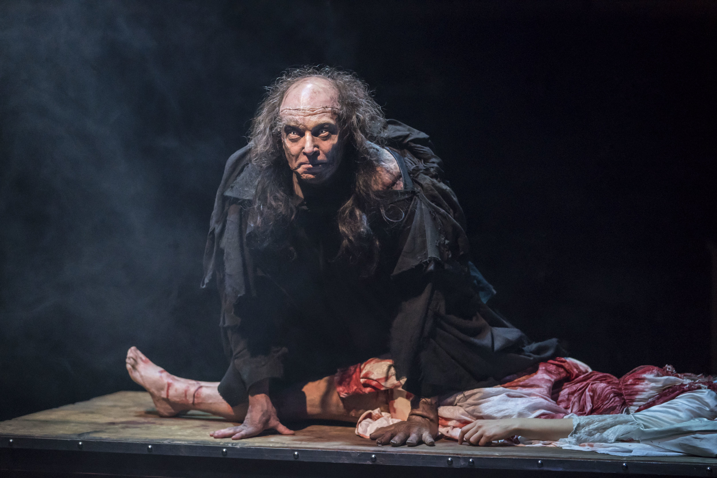 The Creature ( Harry Attwell )in   FRANKENSTEIN  as adapted by  April De Angelis  and performed at the   Royal Exchange Theatre   (9 Mar - 14 Apr 18) || Photo by  Johan Persson  - courtesy of  the Royal Exchange Theatre