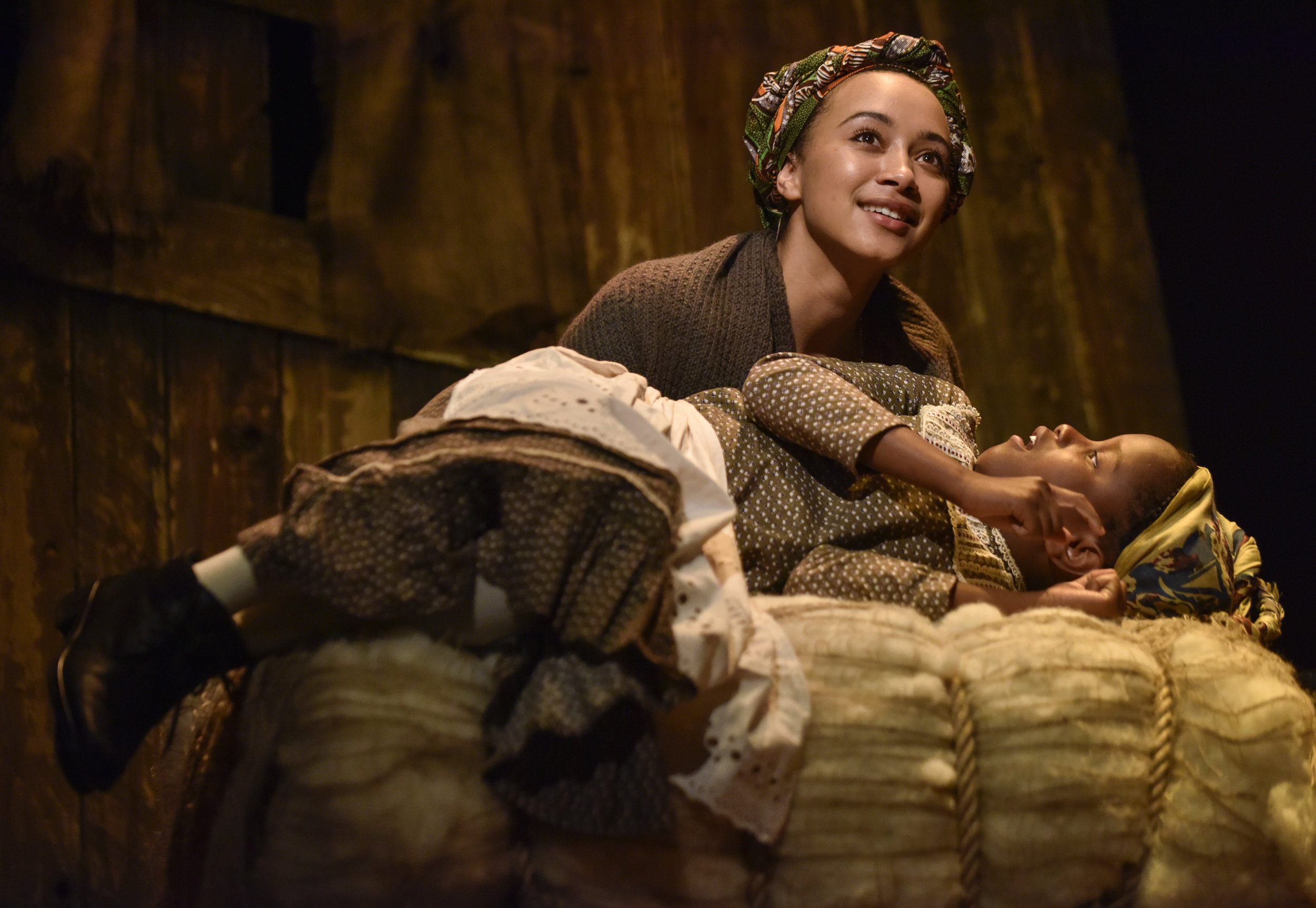 Lucy-Rose Atkins ( Emma Naomi ) and Ruby Atkins in '  BREAD & ROSES  ' (22 Jun - 7 Jul 2018) at  Oldham Coliseum Theatre     Photo by  Joel Chester Fildes , courtesy of Oldham Coliseum Theatre