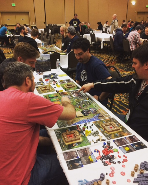 Side by side games of After the Empire at SaltCON 2017!
