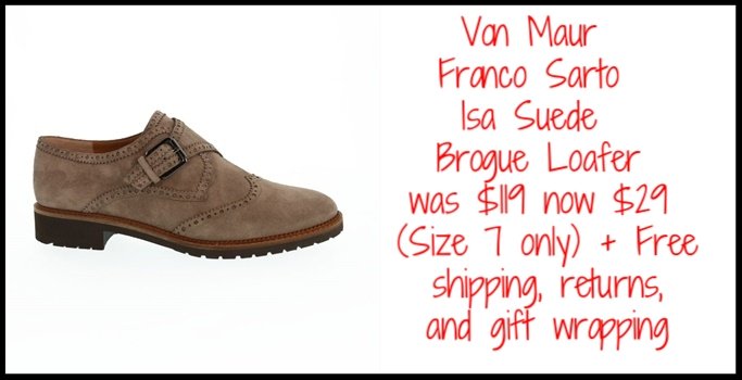 Von Maur  ~ Franco Sarto Isa Suede Brogue Loafer ~ was: $119 now: $29 (Size 7 only ~ while supplies last!) + Free shipping, returns, and gift wrapping
