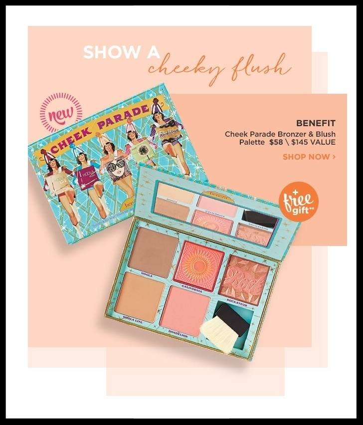 Ulta  ~ Benefit Cheek Parade Bronzer & Blush Palette $58 ($145 value) + 2 GWP Offers ~ FREE deluxe Ka-Brow with any $35 Benefit purchase and FREE Dome Cosmetic Bag with any $50 Benefit purchase (Ends 4/29) + Free samples + Free shipping with $50 order