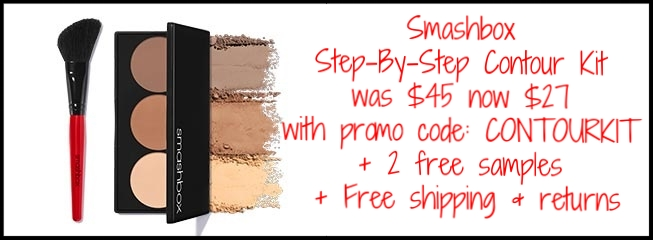 Smashbox ~ 7 Days of Studio Steals ~ Day 2 ~  STEP-BY-STEP CONTOUR KIT  (2 shades) with promo code: CONTOURKIT (Ends 4/11) ~ was: $45 now: $27 + 2 free samples + free shipping and returns