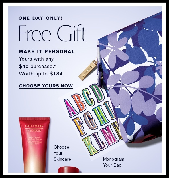 Estée Lauder  ~ One Day only! Free 7-Piece Gift with $45 Purchase + Free shipping and returns on any order