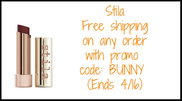 Stila ~  Sale Items  + Free shipping on any order with promo code: BUNNY (Ends 4/16)