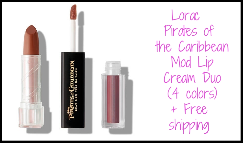 Lorac ~  Pirates of the Caribbean Mod Lip Cream Duo  (4 colors) $26 + Free shipping