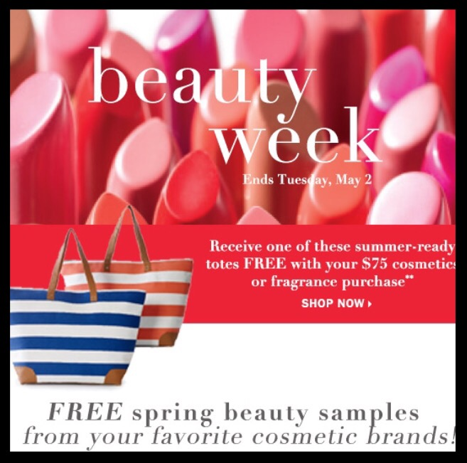 Bon-Ton  ~ It's Beauty Week ~ Lots of GWP offers + Free Beauty Tote with any $75 Beauty and Fragrance purchase + 10% Off of Beauty with promo code: BEAUTYOFFER + Free shipping with any beauty and fragrance order with promo code: BEAUTY (Both codes combined)