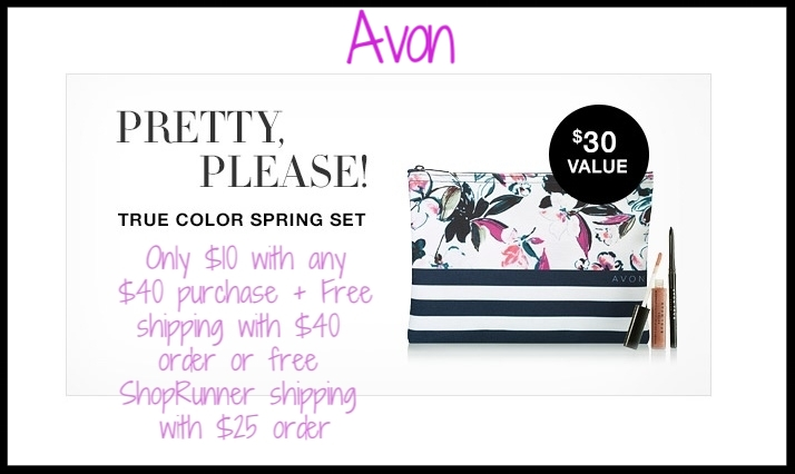 Avon ~  3 -Piece Limited Edition  True Color Spring Set  ($30 value)  only $10 with any $40 purchase + Free shipping with $40 order or free ShopRunner shipping with $25 order