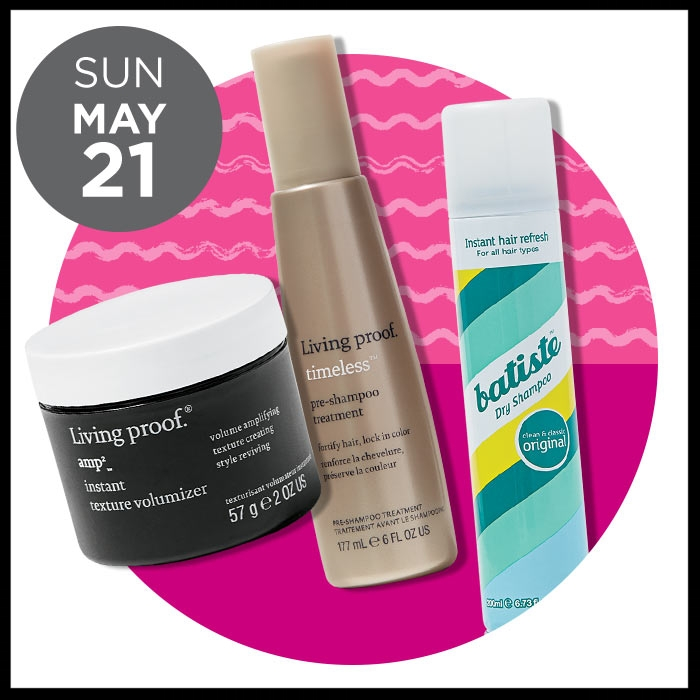 Ulta ~ The Gorgeous Hair Event ~ Living Proof   (50% OFF Select Item) was: $25 - $29 now: $12.50 - $14.50 + FREE deluxe Perfect Hair Day Night Cap with any $25 Living Proof purchase AND  Batiste Dry Shampoo  40% OFF / was: $7.99 now: $4.79 +FREE Stainless Steel Water Bottle with select $20 Haircare purchase.