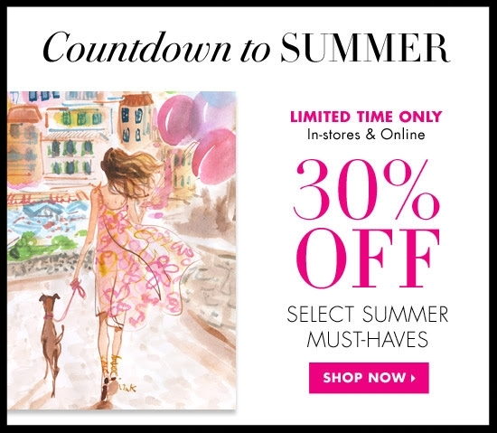 Henri Bendel  ~ 30% Off of Off Select Summer Must-Haves valid on select full-priced merchandise (Ends 5/26) + Plus Free Shipping, Monogramming, Embroidery, and Gift Wrapping on all orders