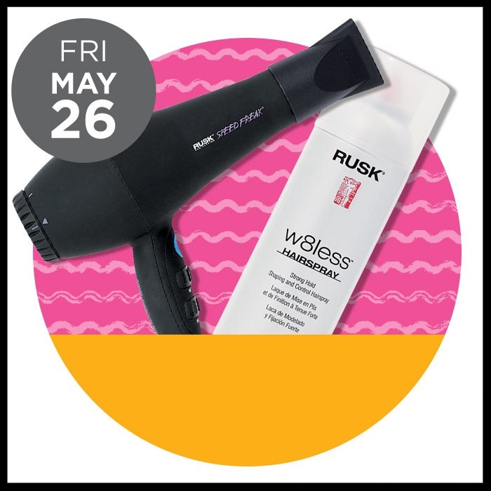 Ulta ~ The Gorgeous Hair Event ~RUSK  W8less & W8less Plus  was: $16.50 now: $9.99   AND RUSK Speed Freak  Ceramic Dryer  ( 50% OFF) Regular: $119.95