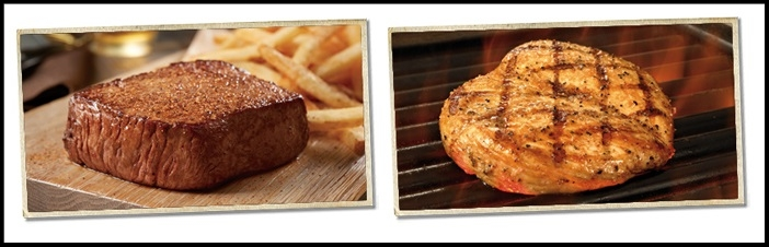 Outback Steakhouse  ~ It's Walkabout Wednesday ~STEAK, FRIES, & BEER FOR $9.99 ~ Get one of two classic entrées (steak or chicken, plus fries, & a draft beer or Coca-Cola all for just $9.99)