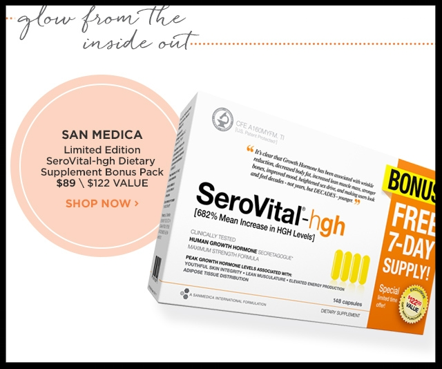Ulta  ~SAN MEDICA ~ Limited-Edition SeroVital-hgh Dietary Supplement Bonus Pack (148-Count) $89 + Free samples + Free shipping with $50 order