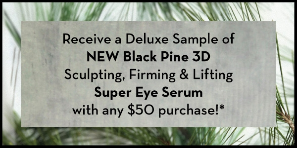 Korres ~  Sale Page Items  + Free deluxe sample of Black Pine 3D Super Eye Serum with $50 purchase (Ends 6/20) 1 free sample + Free shipping with $50 order