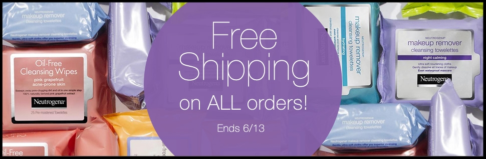 Neutrogena  ~ Free shipping with any purchase (Ends 6/13)