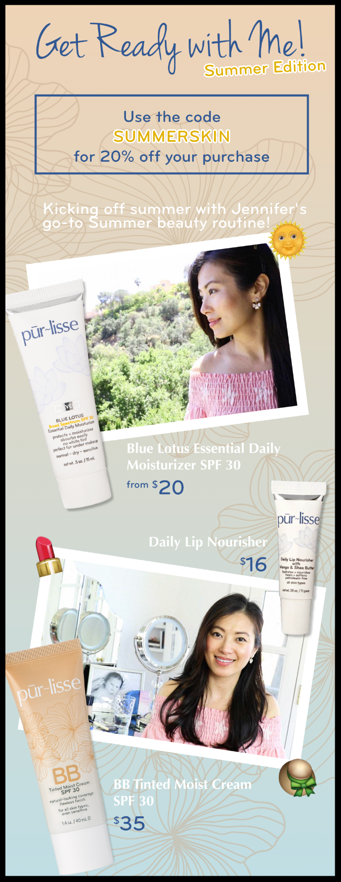 pūr-lisse  ~ 20% Off with promo code: SUMMERSKIN (Ends 6/21) + 1 deluxe sample + Free shipping with U.S. $50 order and free shipping with $75 International order