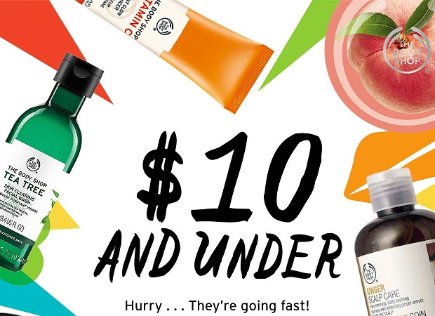 The Body Shop  ~ Items $10 and Under + Free shipping with any order