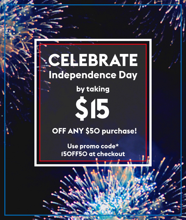 Korres  ~ $15 Off of $50 Purchase with promo code: 15OFF50 (Ends 7/4 at 11:59 EST) +FREE SHIPPING & SAMPLE ON $50 ORDER
