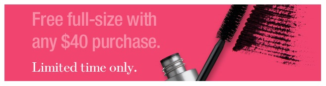 Prescriptives  ~ Free full-size mascara ($23 value) with $40 purchase (Ends 7/8) + Get 2 free deluxe samples with any $25 purchase + Free shipping and returns on any order