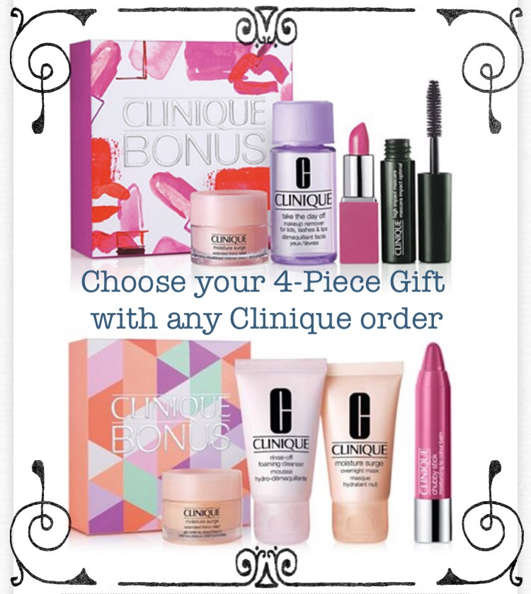 Macy's ~  Clinique  ~ Free 4-Piece Clinique Gift with any Clinique purchase + Free shipping and returns on any Beauty order - The lowest priced item starts at $4.50