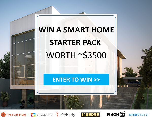 Make Your Home Smart!    Enter for a chance  to win a Smart Home starter pack worth ~ $3,500!       Your package includes:     Pair of Sonos Speakers    Google Home    Apple TV    Snoo    Amazon Echo Dot, Black    Insteon Hub    Insteon Dimmer Switches, 3    Insteon Plug-In Dimmer Modules, 3    Insteon Motion Sensor    Decorilla Design Package     ( Open to legal residents of the forty-eight (48) contiguous states of the United States excluding Alaska, Hawaii, Rhode Island, Puerto Rico, Canada, and US territories, & possessions,who are eighteen (18) years of age or older at the time of entry.Ends on 08/07/2017 at 12:00 AM (Pacific Time)