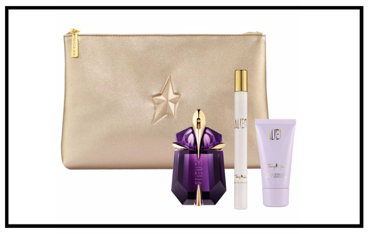Lord & Taylor ~  Thierry Mugler Alien Four-Piece Set  ~ was: $136 now: $95 + 5 free samples with $49 beauty purchase + Free shipping with $49 beauty order ~ Set includes: Eau de Parfum Refillable Spray, 1.0 oz., Eau de Parfum Spray, 0.23 oz. and Radiant Body Cream, and 1.0 oz. all with a signature Mugler Clutch. (While supplies last!)